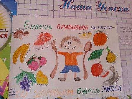 Плакат на тему здоровое питание